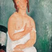 Amedeo Modigliani Weiblicher Halbakt, 1918 Öl auf Leinwand Albertina, Wien. Sammlung Batliner