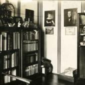 Wien IV., Margaretenstraße 5, 1912–1914  Bibliothek der Wohnung Josef Hoffmanns Foto: unbekannt © Gemeinde Brtnice