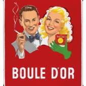 Boule d'Or, abgekantetes Emailschild, 33 x 50 cm, Deutschland um 1930, Rufpreis € 400