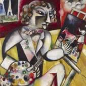 Marc Chagall Selbstportrait mit sieben Fingern, 1912-1913 Amsterdam, Stedelijk Museum