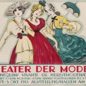 Ernst Deutsch-Dryden, Theater der Moden, Berlin, 1913 Flachdruck © MAK
