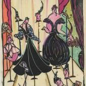 Felice Rix, Mode Wien 1914/15, Wien, 1914–1915 Linolschnitt © MAK