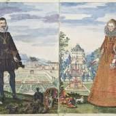 Anonym, Khevenhüller-Chronik, Madrid, 1625 Tinte und Tempera auf Papier © MAK