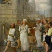 """Nr. 1  Flämischer Altmeister - (17. Jhd.) - Öl auf Eichenholzschindel, """"Die Rückführung der Bundeslade nach Jerusalem durch König David""""   • Kategorie: Gemälde   • Limit: 3.000,00 EUR"""