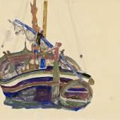 Egon Schiele Triestiner Fischerboot, 1912 Albertina, Wien