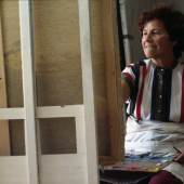 Maria Lassnig, Juni 1983 Foto: © Kurt-Michael Westermann / Maria Lassnig Stiftung