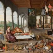 Lot Nr. 67 Jan Brueghel II. (Antwerpen 1601 - 1678)  und Pieter van Avont (Mecheln 1600 - 1652 Antwerpen)  Eine Allegorie des Geschmacks,  Öl auf Holz, 58 x 89,1 cm  erzielter Preis € 224.046