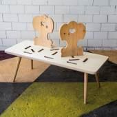 """Lot 29 """"Retino""""-Sitzbank, breadedEscalope (Sascha Mikel-Martin Schnabl-Michael Tatschl), 2013  Schätzwert € 2.400 - 3.500"""