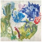 """787  Max Weiler (1910-2001)  """"Welt des Wachstums"""", 1987  in 4 Teilen, je 180 x 180 cm  gesamt 360 x 360 cm  erzielter Preis € 393.400"""