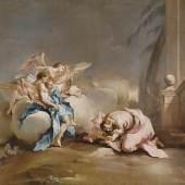 Francesco Guardi (1712-1793) Begegnung Abrahams mit den drei Engeln, Öl/Leinwand, 72,5 x 92,5 cm  Auktion 20. Oktober 2015  Schätzwert € 120.000 - 150.000