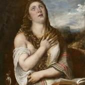 Tiziano Vecellio (1488/90-1576) und Werkstatt, Maria Magdalena, Öl/Leinwand, 100,5 x 80,5 cm  Auktion 20. Oktober 2015  Schätzwert € 200.000 - 300.000