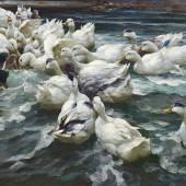 Alexander Koester (1864-1932) Wilde Jagd, Öl/Leinwand, 78 x 129,5 cm  Auktion 22. Oktober 2015  Schätzwert € 120.000 - 150.000