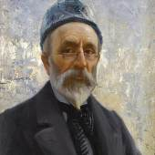 Fausto Zonaro (1854-1929) Selbstporträt, 1914, Öl/Leinwand, 60,6 x 50,7 cm  Auktion 22. Oktober 2015  Schätzwert € 50.000 - 70.000