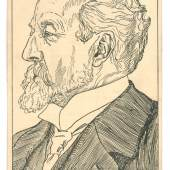 Wiener Werkstätte, Postkarte Nr. 251 mit Porträt Otto Wagners, Wien, 1911 © MA