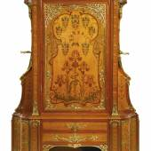 Théodore Millet, A fine and important gilt bronze, satinwood, stained sycamore and fruitwood marquetry armoire Paris, circa 1900  50,000 - 70,000 USD