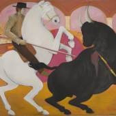 """Katalog-Nr. 179 - Guillermo Quintero (1938 - ?) - Acryl auf Leinwand, """"Stierkampf""""    Limit: 1.350,00 EUR"""