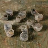 Tintenfässer von SchülerInnen der Thalmud-THora-Schule in der Malzgasse 16 verwendet/Hersteller: Forma P. Johannes Müller, Wien 1, Foto: Klaus Pichler
