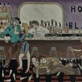 Nicholas Greeley, House of Blazes, um 1970, Mischtechnik auf Karton, Collection of Mark Jackson
