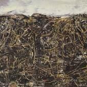 WJean Dubuffet (1901 - 1985) Bon Espoir (Paysage avec personnages), 1955, Öl auf Leinwand, 89 x 116 cm, erzielter Preis € 735.400