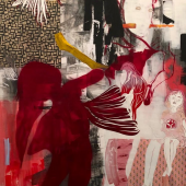 Monika Thiele. X 22. 2019. Mischtechnik. 180 x 135 cm.