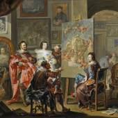 Johann Georg Platzer (1704-1761)  Im Atelier des Malers,  Öl auf Kupfer, 47,6 x 64,5 cm  Schätzwert € 150.000-200.000  Auktion 19. April 2016