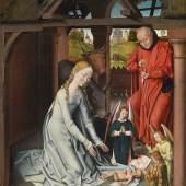 Lot Nr. 12 Hans Memling Werkstatt  (um 1435–1494)  Die Geburt Christi,  Öl auf Holz, 99,2 x 72,5 cm  erzielter Preis € 1.200.000