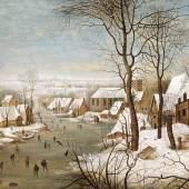 Pieter Brueghel II. (1564-1637/38)  Die Vogelfalle,  Öl auf Holz, 45,5 x 58,3 cm  Schätzwert € 700.000-900.000  Auktion 19. April 2016