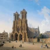 Lot 1181 Domenico Quaglio (Schloss Hohenschwangau bei Füssen 1787 - 1837)  Ansicht der Kathedrale Notre Dame in Reims,  Öl auf Leinwand, 53,7 x 69,5 cm  erzielter Preis € 131.100
