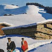 Alfons Walde (1891 - 1958) Bergbauern bei Kitzbühel, 1936, Öl auf Karton, 32,5 x 51,5 cm  Schätzwert € 100.000 - 150.000  Auktion 31. Mai 2016