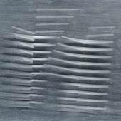 Agostino Bonalumi (1935 - 2013) Grigio, 1987, Vinyl Tempera und reliefierte Leinwand, 130 x 162 cm  Schätzwert € 150.000 - 200.000  Auktion 1. Juni 2016