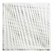 Kat. Nr. 604 Enrico Castellani (Castelmassa Rovigo 1930 geb.) Superficie bianca, 1986, am Keilrahmen signiert, betitelt und datiert Enrico Castellani 1986, Acryl auf Leinwand, 100 x 100 cm  erzielter Preis € 383.640