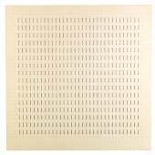 """Kat. Nr. 609 Günther Uecker, (Wendorf 1930 geb.) Reihung, 1970, Bleistift, Nägel, Lack, Holz, rücks. signiert, mit Widmung  Uecker Günther für """"Tünn und Eva"""" mit Richtungspfeil auf einen mit """"lenk mack pfahler uecker - 35. biennale di Venezia padiglione tedesco"""" beschrifteten Klebezettel zeigend, 78 x 78 cm, in Plexiglasbox, 79,5 x 79,5 x 5 cm  erzielter Preis € 344.600"""