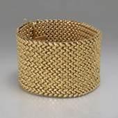 massives Goldarmband; Italien, 60ziger Jahre; 750 GG > UnoAErre<