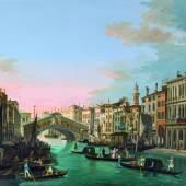 Giuseppe Bernardino Bison (1762-1844) Der Canal Grande mit der Rialtobrücke in Venedig, Öl auf Leinwand, 68 x 97 cm  Schätzwert € 180.000 - 220.000