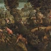 Jacopo Tintoretto (1519-1594) Die Schlacht zwischen den Philistern und den Israeliten, Öl auf Leinwand, 146 x 230,7 cm  Schätzwert € 300.000 - 400.000