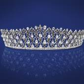 Diamantdiadem, zus. ca. 30 ct, 1902-1922 € 42.500