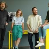 v.l.n.r.: Wolfgang Brunner, Michaela Schmidlechner, Michael Simku und Martin Walkner © Kunsthalle Wien