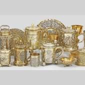Lot 1688. Qualitätvolle Auswahl an barockem Silber des 17./18. Jhs.