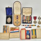 Lot 1690 Sold for £5,600* First World War & later awards to Major Henry Joseph Milligan