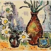 "Schwarze Fine Art, Kelkheim: Karl Schmidt-Rottluff, ""Blaue Schatten"", 1965"