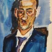 """Friedrich Karl Gotsch(1900-1984) """"Portrait vom Bruders des Künstlers"""",Aquarell,signiert,datiert 1922,64x52cm"""