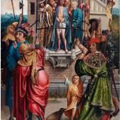 Cornelisz Engebrechtsz. (1460/62 - 1527) und Werkstatt, Ecco Homo, Öl auf Holz, 91 x 63 cm, Schätzwert € 60.000 - 80.000