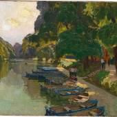 Carl Moll (Wien 1861-1945) Aus dem Wiener Prater I, ca. 1930, Öl auf Leinwand, 60 x 70 cm, erzielter Preis € 247.000