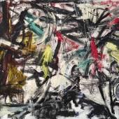 Emilio Vedova (1919 - 2006) Tensione, N 4 V, 1959, Öl auf Leinwand, 145,5 x 196 cm, erzielter Preis € 792.500