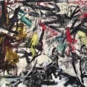 Emilio Vedova (1919-2006) Tensione, N 4 V, 1959, Öl auf Leinwand, 145,5 x 196 cm, erzielter Preis € 792.500