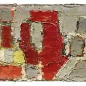 Nicolas De Stael (1914 - 1955) Composition, 1950, Öl auf Leinwand, 16 x 27 cm, Schätzwert € 200.000 - 300.000 Auktion 31. Mai 2017