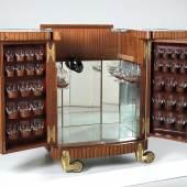 Imposante Hausbar/Barschrank, Entwurf Oswald Haerdtl, Ausführung Fa. Max Welz, 1952, Schätzwert € 20.000 - 30.000
