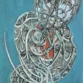 "André Verlon ""Situation humaine LII"", 1962, Montage-Painting auf Platte, 106 x 75 cm, signiert und datiert Foto: Kunsthandel Hieke"