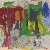 Philip Guston, ohne Titel, 1957, Öl auf Papier auf Hartfaserplatte, 63,5 x 88,9 cm, erzielter Preis € 470.860