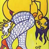 OTTO MUEHL (*1925) Geile Träume, 24.2.1996 Acryl auf Leinwand 100 x 80 cm Privatbesitz © VBK Wien, 2010